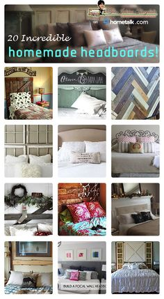 Get inspired from these 20 homemade headboards!