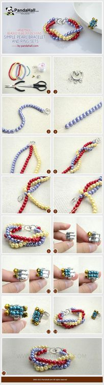 Jewelry Making Tutorial--DIY Homemade Simple Pearl Bracelet and Ring | PandaHall Beads Jewelry Blog