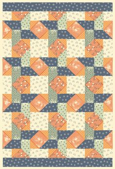 Quilt wrapping papers by Harriet Taylor Seed, via Behance