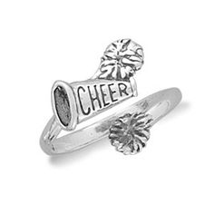 Sterling Silver Cheerleader Ring
