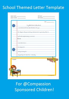 This blog has tons of Letter Templates/Writing Prompts Sponsors to use when writing their sponsored children!
