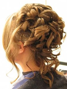 formal hairstyles for medium hair | ... Updo For Thick Curly Hair prom updo for curly hair – Hair Styles