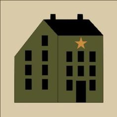 free primitive stencils | Primitive Topper Stencil Salt Box House C Blocks Trio | eBay