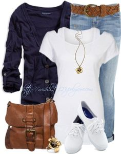 """""""Unbenannt #281"""" by wishlist123 ❤ liked on Polyvore european fashion, cloth, ladies fashion, style, blue, smart casual, white, everyday outfits, shoe"""