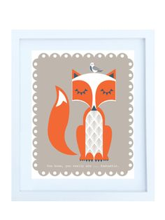 Fantastic Mr Fox Illustration Poster Print by helenrobin on Etsy, $20.00