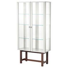 STOCKHOLM Glass-door cabinet - IKEA Bar Glassware Storage?