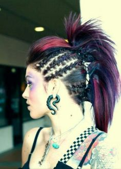 Braided mohawk with volume at the fringe
