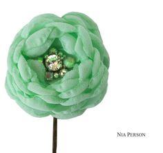 Mint Green Hair Flower