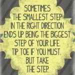 Sometimes The Smallest Steps
