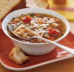 soups, food, farro idea, farro recip, rustic bean, farro zuppa, farro ...