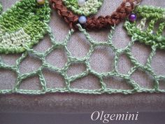 How to make this  irish crochet   Smooth edge of the grid