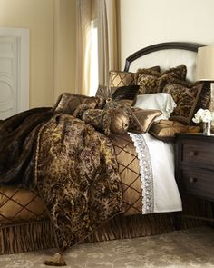 """Le Foret"" Bed Linens by Dian Austin Couture Home at Horchow."