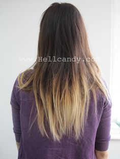 ombre hair; so looking like you haven't bleached your hair in 6 months is cool now?? I had this goin on in high school 17 years ago and it was not hip. It was laziness.