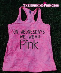 On Wednesdays We Wear Pink Burnout Tank top.Womens crossfit tank.Funny