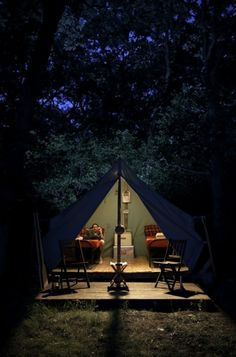 Camping in the dark