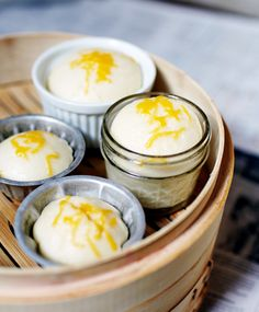 A traditional Filipino recipe - a steamed cake called puto - sweet and cheesy! Yum!