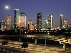 Houston Texas at dusk
