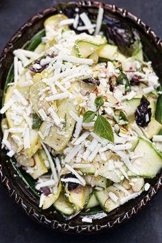 Shaved Summer Squash Salad with Basil & Ricotta Salata - Farmhouse Delivery