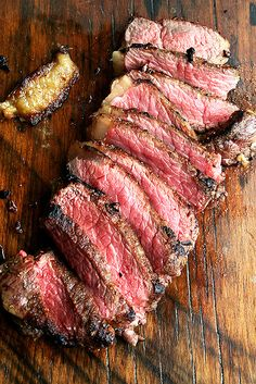 Marinated New York Strips with Balsamic Caramel Drizzle