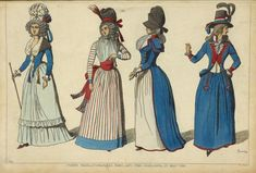Wearing the French flag: hand-colored etching of revolutionary fashion from 1789 and 1790 by Raphael Jacquemin