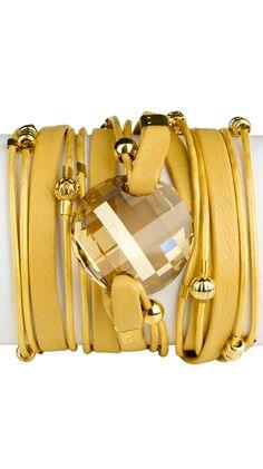 By Sara Designs - Swarovski Crystal Wrap Bracelet.
