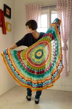 Circle Blanket - Tropical. $120,00, via Etsy.