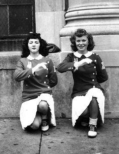 Cheerleaders from Emerson High School, 1946.