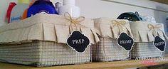Pleated Basket liner #sewing #organiser