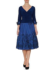 Embroidered Hem Cuff Dress great for MOB