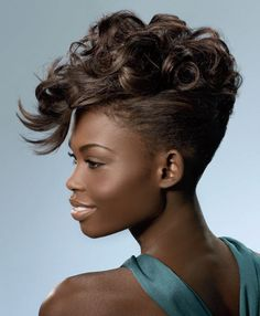 African- American Wedding Hairstyles - Short Hairstyles