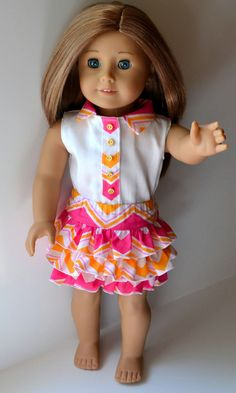 Doll Clothes fits American Girl Doll Chevron by lilliesthreads, $24.95