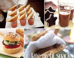 late night snacks for your #wedding reception -- what'll you have?!
