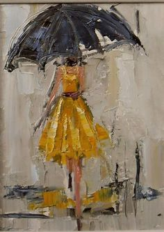 Beautiful oil paintings for rainy day inspiration by Kathryn Trotter.