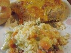 Served Up With Love: Cheesy Chicken and Rice Casserole