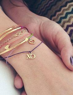 POP of color #dogeared #bracelets