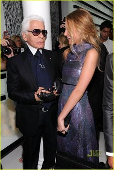 Blake Lively, Ambassador for Chanel  with Karl Lagerfeld