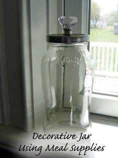 Cool use for spaghetti sauce jars.
