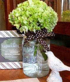 hydrangeas in mason jars | ... wanted you all to see the jar the hydrangeas were in--a Mason Jar