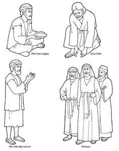Jesus heals the blind man craft