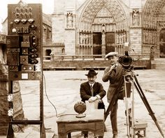 Filming The Hunchback of Notre Dame - 1923