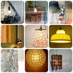 Inspiration for making your own pendant lamps. Has source for light kit. Less than $10/each!