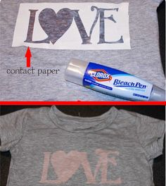 """""""Recycling your old tees with a bleach pen!"""" <3 this idea! :)"""