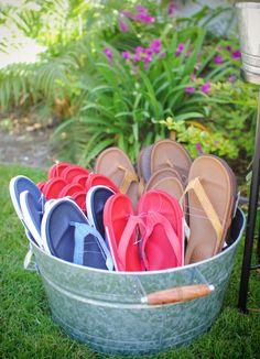 UGG® Australia's leather flip flops - the #Bennison #musicfestival #style