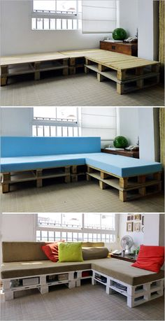 Decorating , DIY Wood Pallet – 20 Creative Furniture Idea : Sofa From Wood Pallets