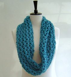 Quick knit PATTERN for Cowl Infinity Scarf by Richmondhillknits, $4.50