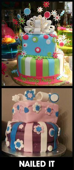 birthday cake - pinterest fail