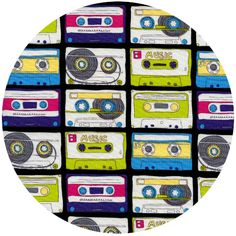 Timeless Treasures, 80's, Mixed Tape Multi