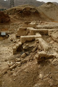 Ruins of ancient jericho.   ISRAEL. Joshua fought the battle of Jericho and the walls came tumbling down.