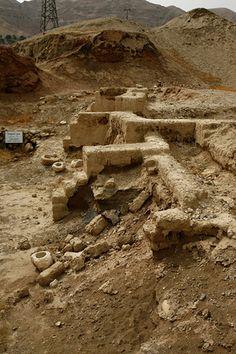 Ruins of ancient jericho.   ISRAEL
