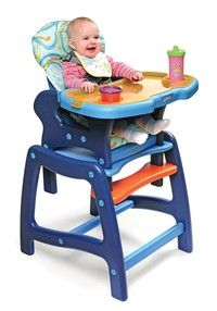 Envee™ Baby High Chair with Playtable Conversion - Blue/Orange